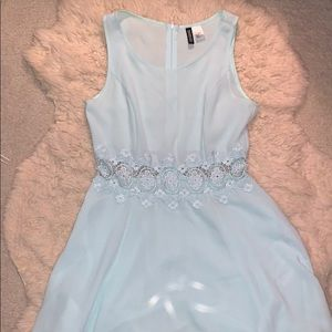 H&M baby blue cutout dress size 8 but fits smaller